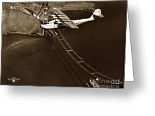 Philippine Clipper A Pan Am Clipper Over The Golden Gate Bridge  1935 Greeting Card