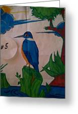 Philippine Kingfisher Painting Contest 6 Greeting Card