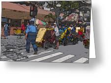 Philippines 906 Crosswalk Greeting Card