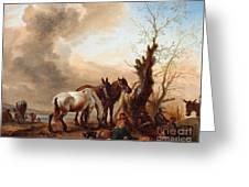 Philips Wouwerman Greeting Card