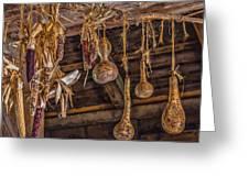 Philipsburg Manor - Gourds And Flint Corn Greeting Card