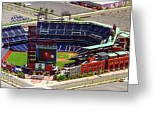 Phillies Citizens Bank Park Philadelphia Greeting Card by Duncan Pearson