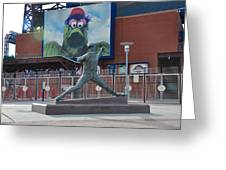 Phillies Steve Carlton Statue Greeting Card