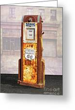 Phillips 66 Antique Gas Pump Greeting Card