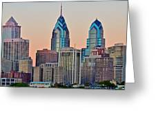 Philly At Sunset Greeting Card