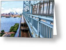 Philly From The Bridge Greeting Card