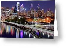 Philly In Panoramic View Greeting Card