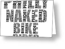 Philly Naked Bike Rider Greeting Card