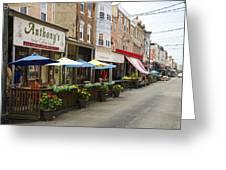 Philly's Italian Market Greeting Card