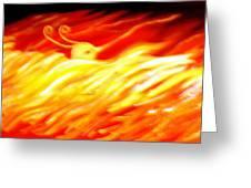 Phoenix Greeting Card by Barbara Stirrup