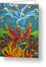 Phoenix Bird Greeting Card