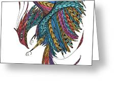 Phoenix Landing Greeting Card by Barbara McConoughey
