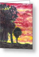 Phoenix Sunset Greeting Card