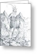 Pholus The Centauras Greeting Card