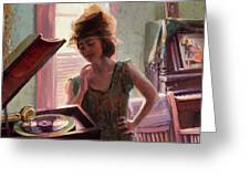 Phonograph Days Greeting Card