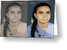 Photo Restoration Services Image Outsource India Greeting Card