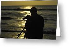 Photographer And Atlantic Ocean Sunrise Greeting Card
