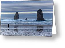 Photographer At Cannon Beach Greeting Card