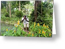 Photographer In The Jungle Greeting Card