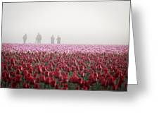Photographers In The Mist Greeting Card