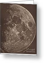 Photographie De La Lune A Son 1er Quartier Greeting Card