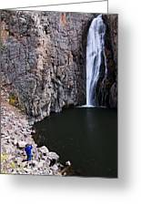 Photographing Porcupine Falls Greeting Card