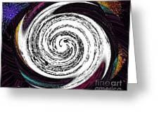 Photoimpressed Whirl  Greeting Card by Catherine Lott