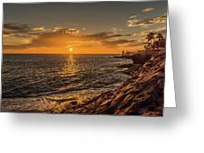 Photo's Of Tenerife - La Caleta Sunset Greeting Card