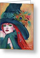 Pia Dora Witch Greeting Card