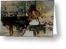 Pianist #0077 Greeting Card