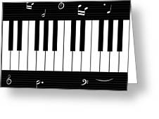 Piano And Music Background Greeting Card