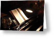 Piano Bar Greeting Card