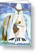 Piano Dance Greeting Card