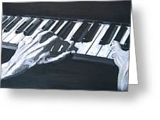 Piano Hands Plus Metronome Greeting Card