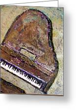 Piano In Bronze Greeting Card