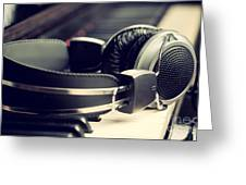 Piano Keyboard And Headphones Greeting Card