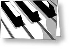 Piano Keyboard Greeting Card