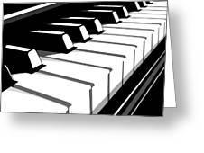 Piano Keyboard No2 Greeting Card