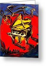 Piano Music Jazz Greeting Card