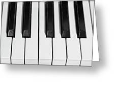 Piano Octave  Bw Greeting Card