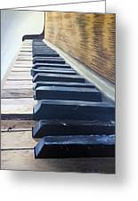 Piano Perspective Greeting Card