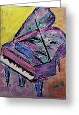 Piano Pink Greeting Card by Anita Burgermeister