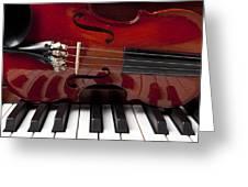 Piano Reflections Greeting Card