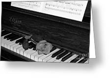 Piano Rose Greeting Card