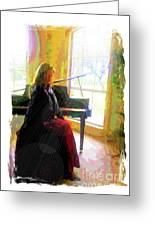 Piano Solstice Greeting Card