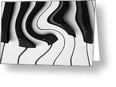 Piano Surrealism  Greeting Card