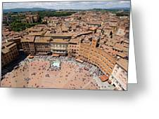 Piazza Del Camp In The Center Greeting Card by Joel Sartore
