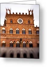 Piazza Del Campo Tuscany Italy Greeting Card