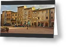 Piazza Della Cisterna Greeting Card