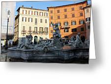 Piazza Navona Rome Greeting Card